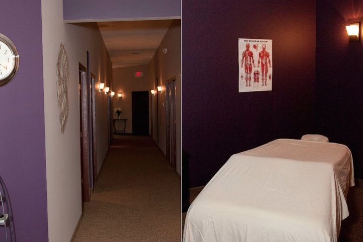Split view of our hallway massage rooms
